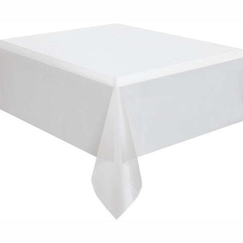 Clear Solid Rectangular Plastic Table Cover, 54