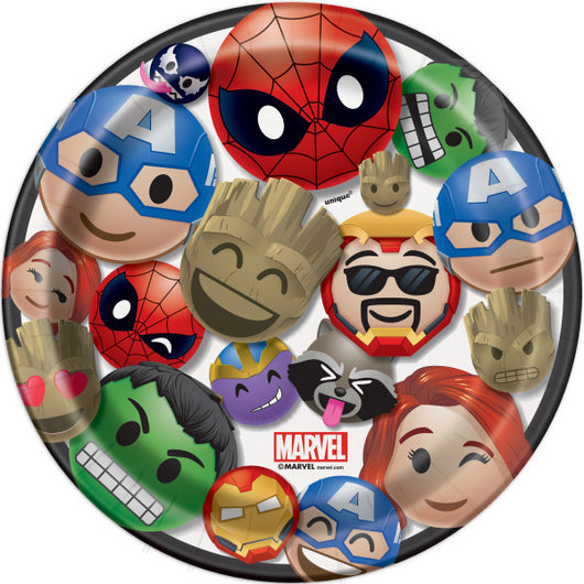 Marvel Emoticon Dessert Plates, 8ct