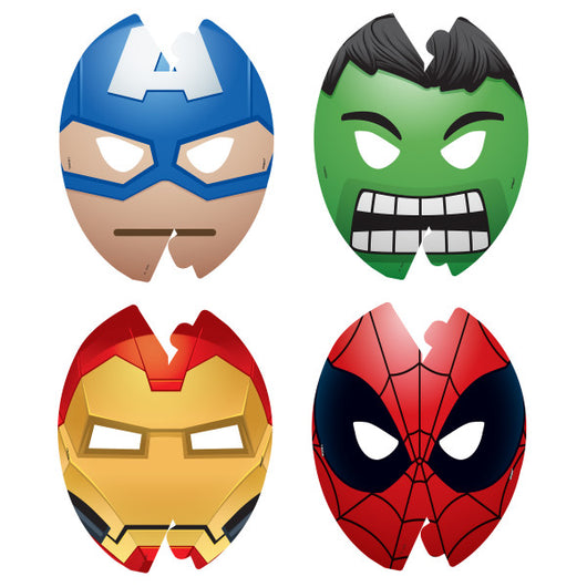 Marvel Emoticon Party Masks, 8ct