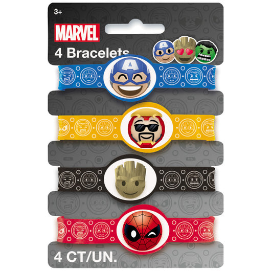 Marvel Emoticon Stretchy Bracelets, 4ct