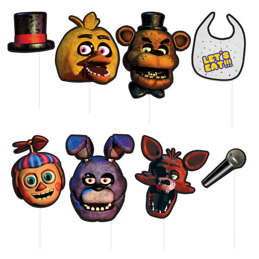 Five Nights at Freddy's Photo Booth Props, 8ct