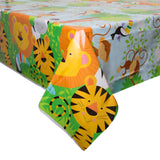 "Animal Jungle Rectangular Plastic Table Cover, 54""x84"""