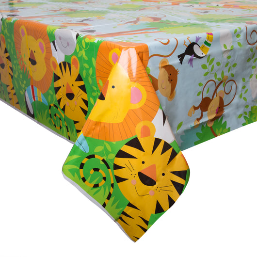 Animal Jungle Rectangular Plastic Table Cover, 54