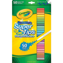 Crayola Washable Super Tips Markers 50ct. (24)