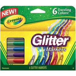 Crayola Glitter Markers 6ct. (24)