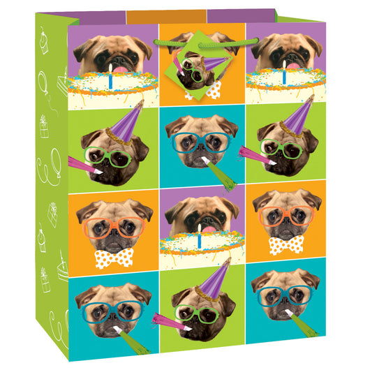 Pug Puppy Birthday Large Gift Bag