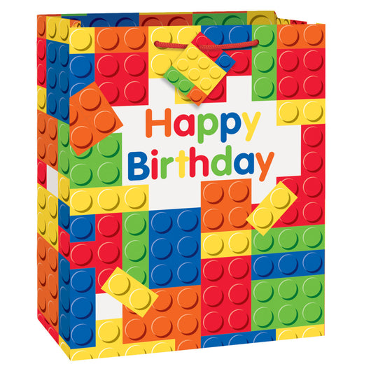 Building Blocks Birthday Large Gift Bag