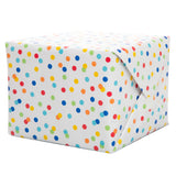 "Rainbow Polka Dots Gift Wrap, 30"" x 5 ft"