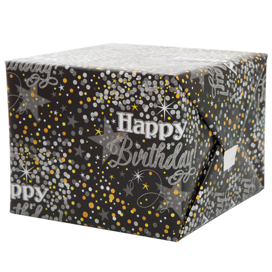 Glittering Birthday Gift Wrap, 30