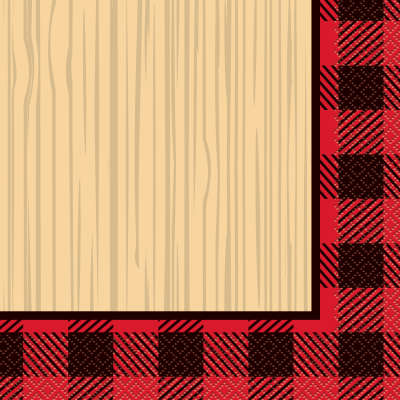 Plaid Lumberjack Luncheon Napkins 16ct