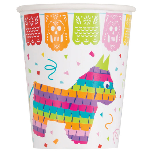 Mexican Fiesta 9oz Paper Cups, 8ct