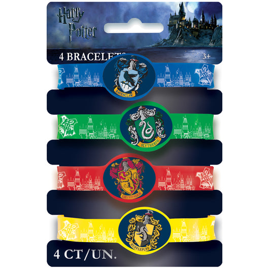 Harry Potter Stretchy Bracelets, 4ct