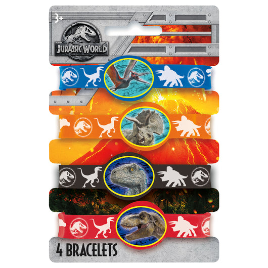 Jurassic World 2 Stretchy Bracelets, 4ct