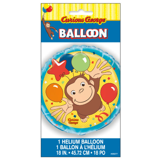 Curious George Round Foil Balloon 18
