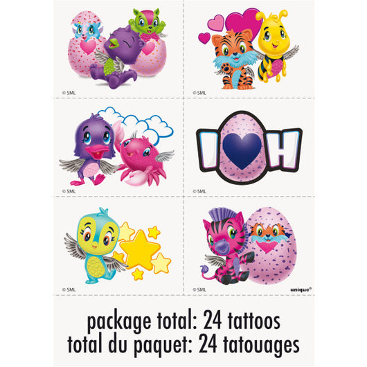 Hatchimals Color Tattoo Sheets, 4ct