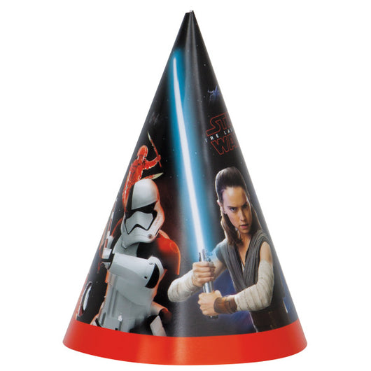 Star Wars Episode VIII Party Hats, 8ct
