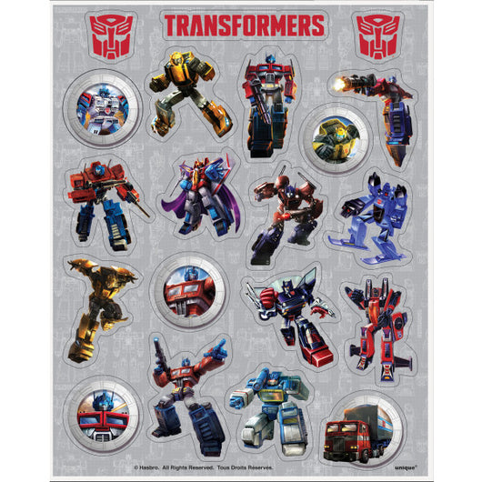 Transformers Sticker Sheets, 4ct