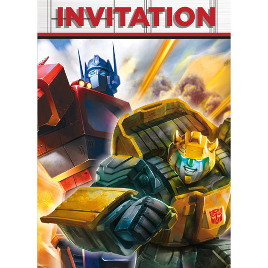 Transformers Invitations, 8ct