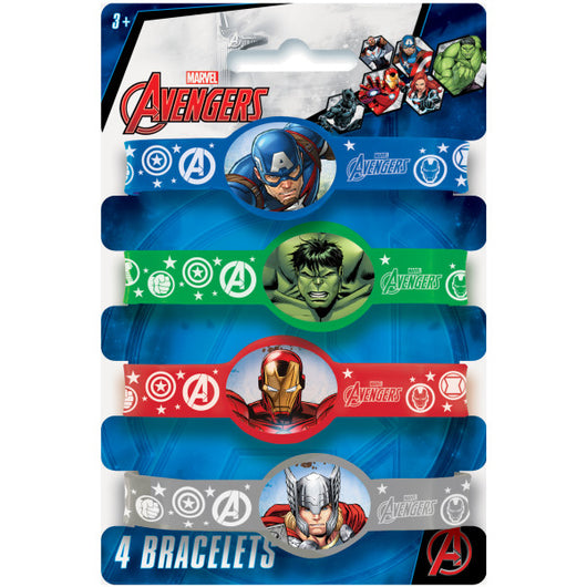 Avengers Stretchy Bracelets, 4ct