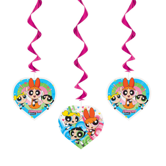 Powerpuff Girls Hanging Swirl Decorations, 26