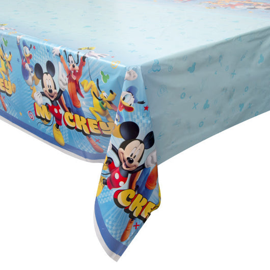 Mickey Roadster Printed Plastic Tablecover, 54