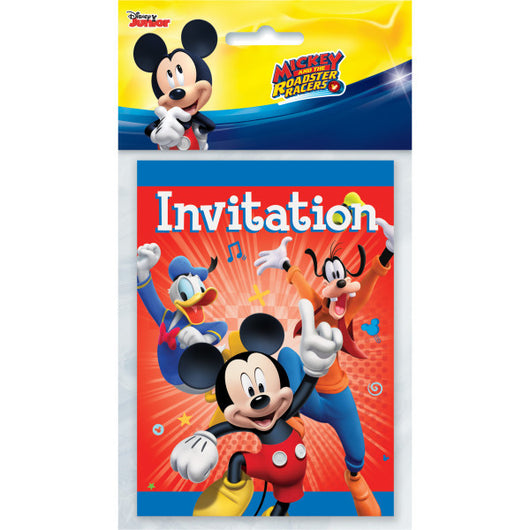 Mickey Roadster Party Invitations, 8ct.