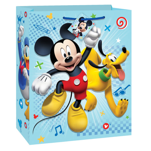 Mickey Roadster Large Gift Bag, 12.5