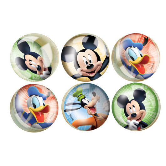 Mickey Roadster Bounce Balls, 6ct.