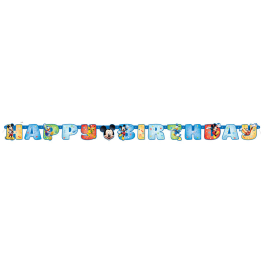 Mickey Roadster Birthday Banner, 1ct.