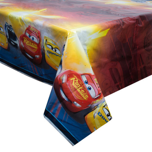 Disney Cars 3 Movie Rectangular Plastic Table Cover, 54