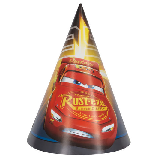 Disney Cars 3 Movie Party Hats, 8ct