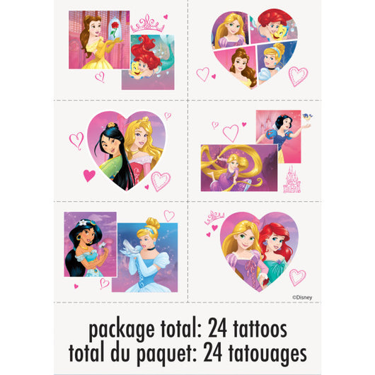 Disney Princess Dream Big Color Tattoo Sheets, 4ct