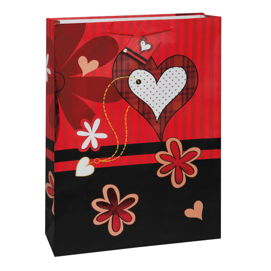 Flower Hearts Foil Jumbo Gift Bag