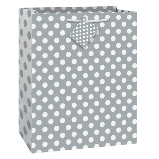 Silver Dots Large Gift Bag