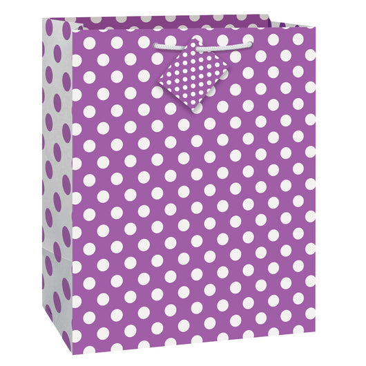 Pretty Purple Dots Large Gift Bag