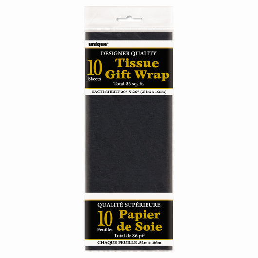 Black Tissue Sheets, 10ct
