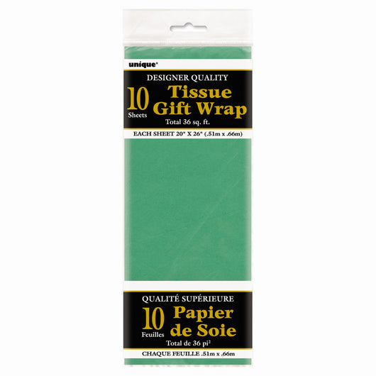 Green Tissue Sheets, 10ct