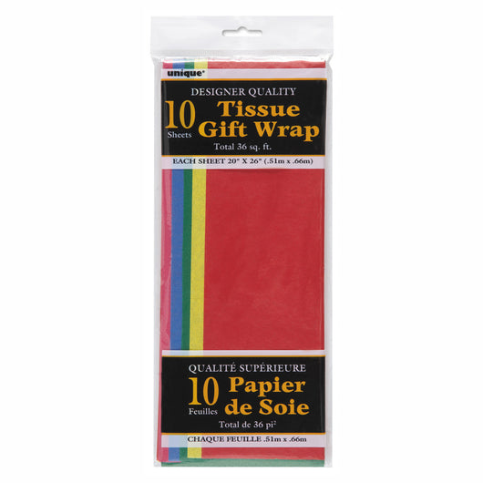 Assorted Tissue Sheets, 10ct