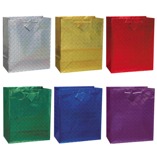 Solid Holographic Jumbo Gift Bag Assortment