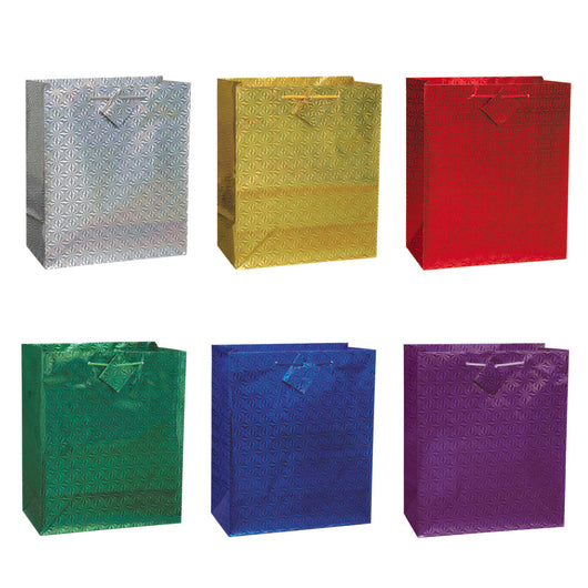 Solid Hologram Large Gift Bag Assortment