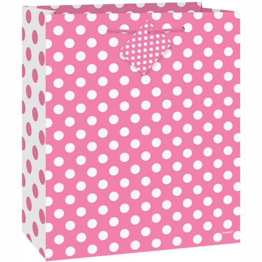 Hot Pink Dots Medium Gift Bag