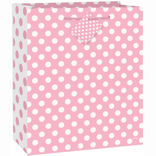 Lovely Pink Dots Large Gift Bag