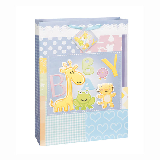 Baby Animals Cutout Jumbo Gift Bag