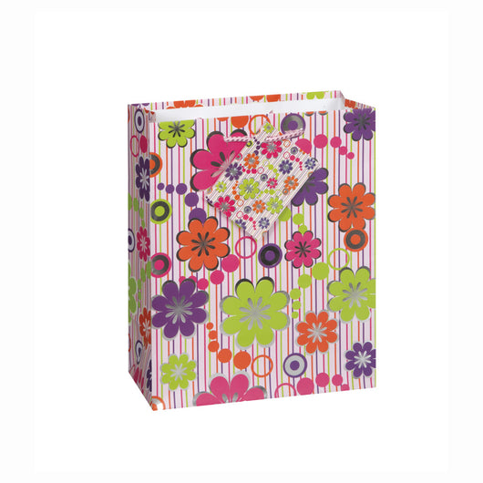 Floral Celebration Foil Medium Gift Bag