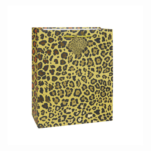 Gold Foil Leopard Medium Gift Bag