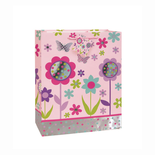 Foil Garden Dots Large Gift Bag