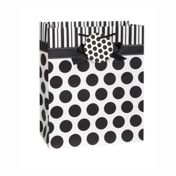 Black Dots Bow Large Gift Bag