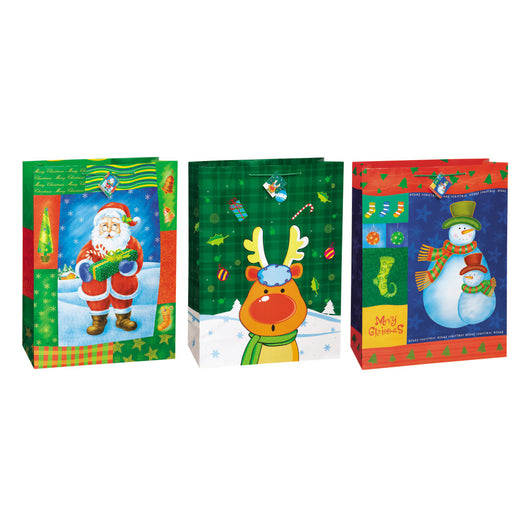 Christmas Glee Super Jumbo Gift Bag Assortment