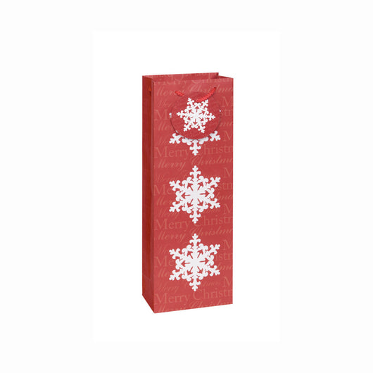 Red Snowflakes Wine Gift Bag