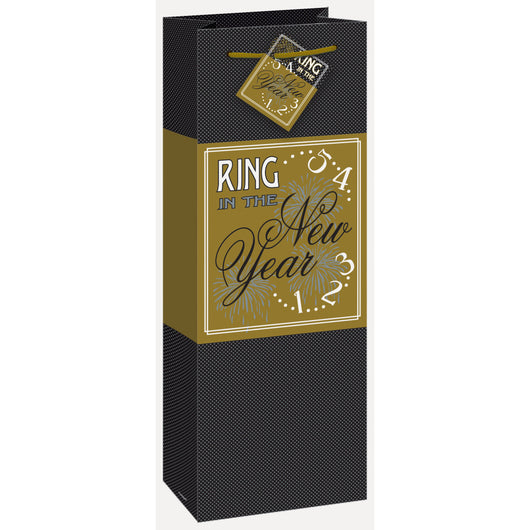 Ring In The New Year Wine Gift Bag